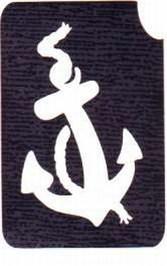 Glitter Tattoo ANCHOR anker