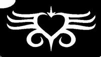 Glitter Tattoo HEART BELLY 2 HART NAVEL