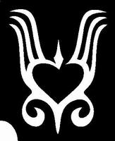 Glitter Tattoo HEART BELLY 1 HART NAVEL