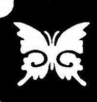 GlitterTattoo BUTTERFLY  VLINDERTJE vlinder