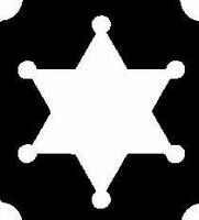 Glitter Tattoo COWBOY STAR SHERIFF