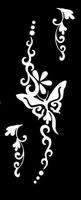 Glitter Tattoo BUTTERFLY HAND LEFT vlinder