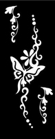 Glitter Tattoo BUTTERFLY HAND RIGHT vlinder
