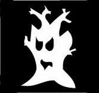 Glitter Tattoo HALLOWEEN SCARY TREE griezelige boom
