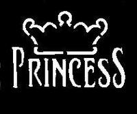 GlitterTattoo PRINCESS CROWN kroon princes