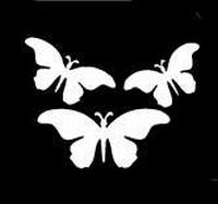 Glitter Tattoo BUTTERFLIES 3b vlinders