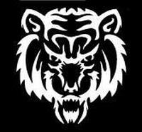 Glitter Tattoo TIGGER HEAD 2 tijger hoofd