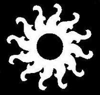 Glitter Tattoo SUN TRIBAL zon tribal