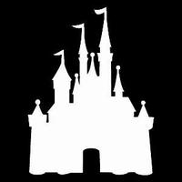 Glitter Tattoo CASTLE FAIRYTAILES kasteel
