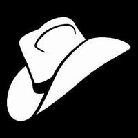 Glitter Tattoo COWBOY HAT hoed