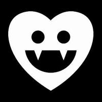Glitter Tattoo HALLOWEEN VAMPIER HEART hart