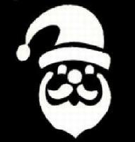 Glitter Tattoo CHRISTMAS SANTA HEAD 2 kerstmis
