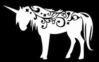 Glitter Tattoo UNICORN TRIBAL eenhoorn