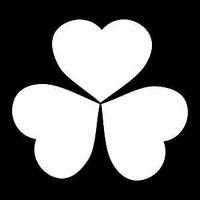 Glitter Tattoo CLOVER SHAMROCK harten