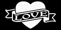 Glitter Tattoo HEART LOVE hart
