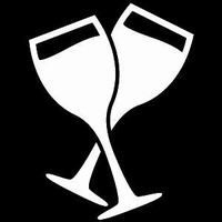 Glitter Tattoo WINEGLASSES wijnglazen