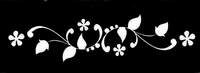 Glitter Tattoo BRACELET FLOWERBUDS ARMBAND