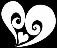Glitter Tattoo HEART in HEART hart