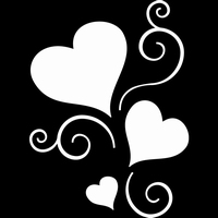 Glitter Tattoo HEARTS WITH SWIRL harten
