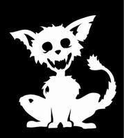 Glitter Tattoo ZOMBIE 6 CAT zombie kat