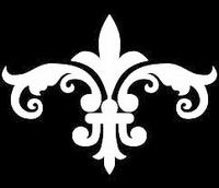 Glitter Tattoo FLEUR DE LIS FANCY franse lelie