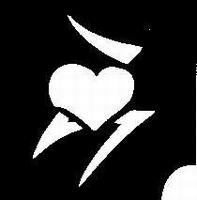 Glitter Tattoo HEART hart 9