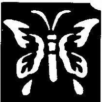 GlitterTattoo BUTTERFLY 1 vlinder