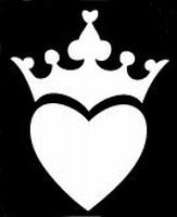 Glitter Tattoo HEART CROWN hart kroon