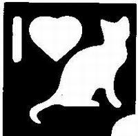 Glitter Tattoo CATS I LOVE CATS