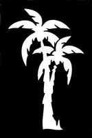 Glitter Tattoo PALM TREES palmbomen