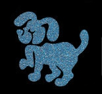 Glitter Tattoo DOG hond