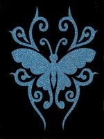 Glitter Tattoo BUTTERFLY LARGE vlinder groot