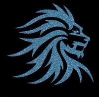Glitter Tattoo LIONHEAD leeuwekop nieuw