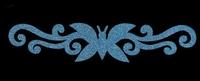 Glitter Tattoo BUTTERFLY BRACELET vlinder