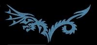 Glitter Tattoo DRAGON BACK draak rug
