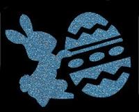 Glitter Tattoo EASTER BUNNY pasen konijntje