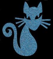 Glitter Tattoo CAT FANCY kat sierlijk
