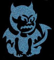 Glitter Tattoo HALLOWEEN DEVIL SITTING duiveltje zittend