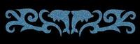 Glitter Tattoo BRACELET DOLPHINS SWIRL dolfijnen