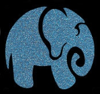 Glitter Tattoo ELEPHANT olifant