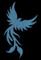Glitter Tattoo BIRD OF PARADISE paradijsvogel