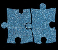 Glitter Tattoo AUTISM autisme