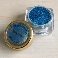 GLITTER make up BLAUW