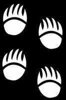 Glitter Tattoo BEAR PAWS berepootafdrukken