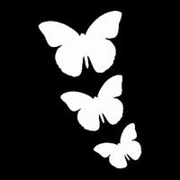 Glitter Tattoo BUTTERFLIES 3 vlinders 3