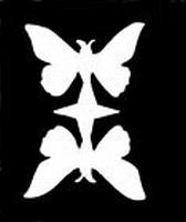 Glitter Tattoo BUTTERFLY DOUBLE vlinders