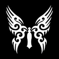 Glitter Tattoo BUTTERFLY TRIBAL vlinder