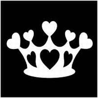 Glitter Tattoo CROWN HEARTS kroon harten