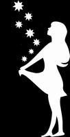 Glitter Tattoo GIRL WITH STARS sterren meisje
