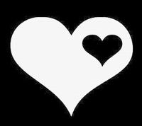 Glitter Tattoo HEART WITH SMALL HEART hart hartje